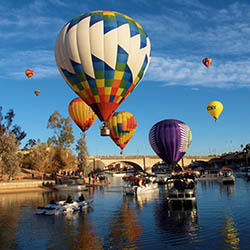 <p>Becky McGuire's photo of the Lake Havasu Balloon Festival in Arizona placed third. // © 2016 Becky McGuire</p><p>Feature image (above): Marcia...