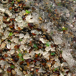 <p>Discarded bottles are just one source for all the colorful remnants that make up Glass Beach. // © 2017 Wikimedia Commons</p><p>Feature image...