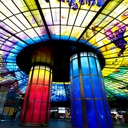 <p>The futuristic dome in Formosa Boulevard Station in Taiwan encompasses human life in the themes of water, earth, light and fire. // © 2014 Creative...