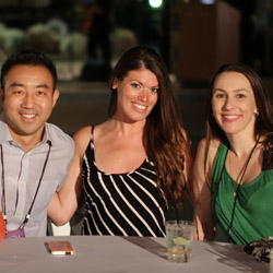 Millennials Craig Hsu (left), Katelyn O'Shaughnessy and Mimi Cassidy were among the top-performing travel agents at GTM West. // © 2014 Eugene Ko <br...