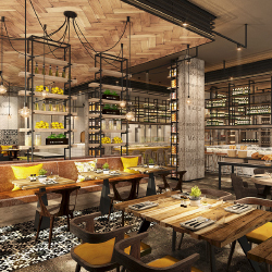 Grand Hyatt Abu Dhabi will have eight dining options, including an Italian restaurant. // © 2016 Grand Hyatt