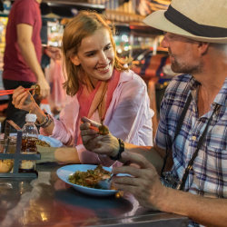 Eighty percent of respondents take part in foodie activities while traveling. // © 2017 iStock