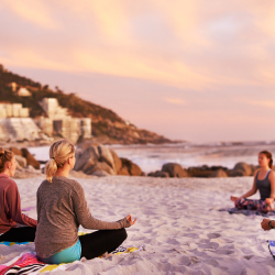 """Yoga retreats"" is a top search item on Pinterest. // © 2017 Getty Images"