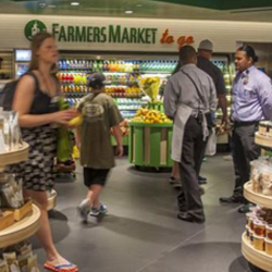 Los Angeles' iconic Farmers Market has opened a version in Terminal 5 of LAX. // 2014 AF Gilmore, Co.