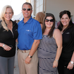 Celebrity Cruises' regional marketing manager Cynthia Rose, Celebrity Cruises' director of sales Scott Clifton, Legal Aid's Jennifer Miramontes and...
