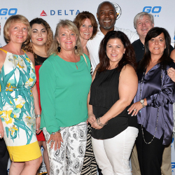 Travel agents and Gogo executives celebrated the debut of the President's Club at the Gogo Vacations Learning Conference in Jamaica. // © 2015 Gogo...