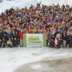 Employees, partners and family gathered to celebrate Tauck's 90-year history. // © 2015 Tauck