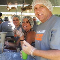 During the conference, Avoya Independent Agency owners packed meals for earthquake victims in Nepal. // © 2015 Avoya Travel