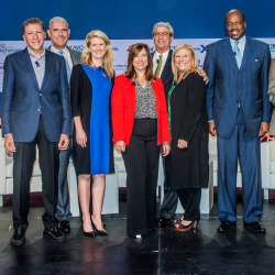 The Presidents Panel, one of many sessions offered during CruiseWorld, featured a discussion with presidents from top cruise lines. // © 2015...