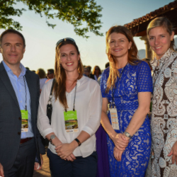 From left: Luke Jones of Imperial Springs; Claire Chirouze Ulloa of HotelsPro; Edyta Teperof Travel2 and Islands in the Sun; and Libby Cooke of Luxury...