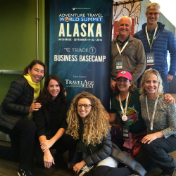 Travel agents, TravelAge West staff and Travel Leaders' Perry Lungmus (back row, second from right) at ATTA's annual summit // © Adventure Travel...