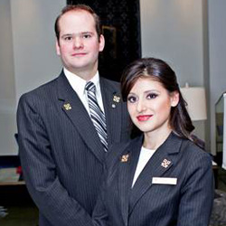 <p><span>Jocelyn Aviles and Rogerio Domenge are the newest concierge members of the St. Regis Mexico City to receive the Clefs d'Or. // © 2014 St....
