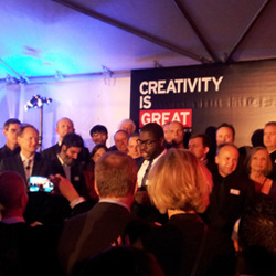 <p>Steve McQueen delivers a speech at the Great British Film Reception. // © 2014 Jessica Castro</p><div></div>