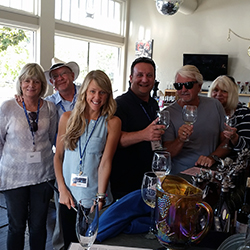 <p>From left: Connie and Kelley Lemmon, Heather Forcier, John Vavrina of Amtrak Vacations and Daniel and Barbara Oleszcuk enjoyed local wineries. // ©...