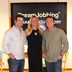 From left: DreamJobbing founders Burton Roberts, Lisa Hennessy and Alex Boylan // © 2015 Eliza Ghriskey