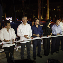 The ribbon-cutting ceremony at the grand opening of Hyatt Ziva Cancun // 2016 Playa Hotels & Resorts