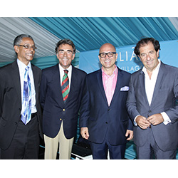 <p>From left: Patrick Atkinson, attorney general of Jamaica; H.E. Anibal Julio Jimenez Y Abascal, ambassador of Spain; Dimitris Kosvogiannis, general...