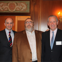 Left to right: J.D. O'Hara, Tzell president; Barry Liben, Tzell CEO; and Michael Batt, Travel Leaders Group founder and chairman