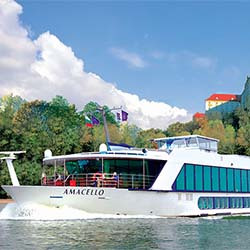 <p>AmaWaterways' AmaCello will take guests from Lyon, France, to Arle, France, during the Provence and Spain trip. // © 2017...