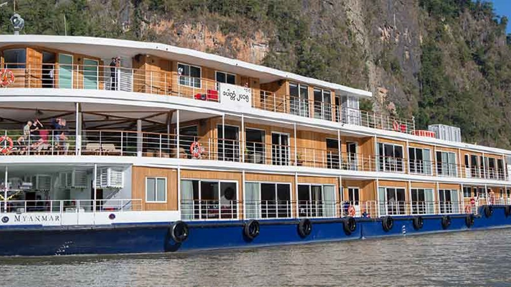 Avalon Myanmar was built to sail the less-traveled northern part of the Irrawaddy River. // © 2016 Avalon Waterways 2