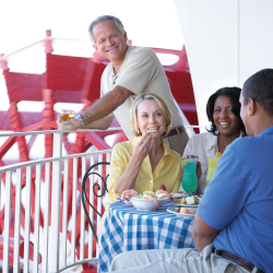 <p>Guests can lounge on the ship's deck. // © 2015 American Queen Steamboat Company</p><p>Feature image (above): American Queen is the largest...