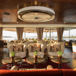 <p>The indoor Panorama Lounge is where most of the ship's socializing takes place. // © 2016 Avalon Waterways</p><p>Feature image (above): Avalon...