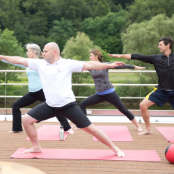 <p>Uniworld passengers can enjoy onboard yoga classes. // © 2016 Uniworld Boutique River Cruise Collection</p><p>Feature image (above): River cruise...