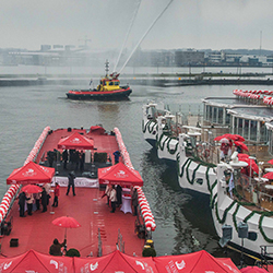 <p>The six new Viking River Cruises Longships were christened in Amsterdam. // © 2016 Viking River Cruises</p><p>Feature image (above): From left:...