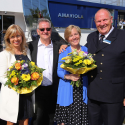 <p>The 158-passenger ship was christened in Vilshofen, Germany, in June.// © 2016 Amawaterways</p><p>Feature image (above): AmaViola features...