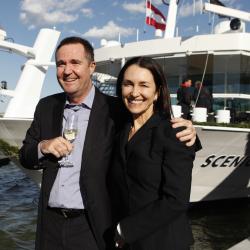 <p>Glen Moroney, owner of Scenic, and wife Karen Moroney // © 2016 Scenic</p><p>Feature image (above): Forty-seven percent of Scenic passengers are...