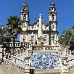 <p>One shore excursion visits the Sanctuary of Our Lady of Remedies in Lamego. // © 2017 Dana Rebmann</p><p>Feature image (above): Onboard meals...