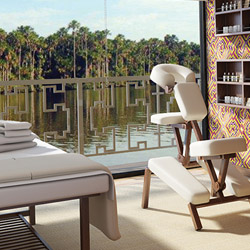 <p>Guests onboard Amazon Discovery can relax in the Rainforest Spa. // © 2015 Avalon Waterways</p><p>Feature image (above): Avalon Mayfair will carry...