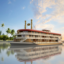 <p>Anawrahta will offer 23 all-balcony staterooms. // © 2015 Heritage Line</p><p>The Royal Suite onboard Anawrahta // © 2015 Heritage Line</p>