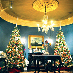 <p> American Cruise Lines' Queen of the Mississippi gets into the Christmas spirit with grand holiday decorations. // © 2014 American Cruise...