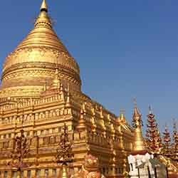 <p>The new Golden Myanmar and Alluring Irrawaddy itinerary offers a variety of excursions, such as a trip to Shwezigon Pagoda. // © 2016 Kenneth...