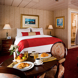<p>The 120-passenger Queen of the West emerged from a renovation in 2011 that included upgrades to the ship's staterooms. // © 2016 American Cruise...
