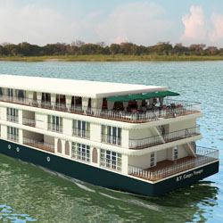 Uniworld's Ganges Voyager II is set to debut in India in 2016. // © 2014 Uniworld Boutique River Cruise Collection