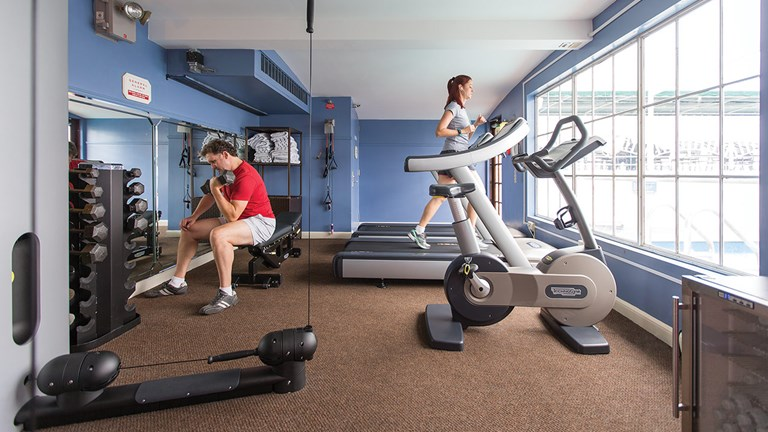 The fitness room onboard American Queen Steamboat Company's American Queen