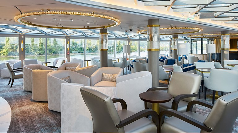 Clients can relax in the ship's public lounges.