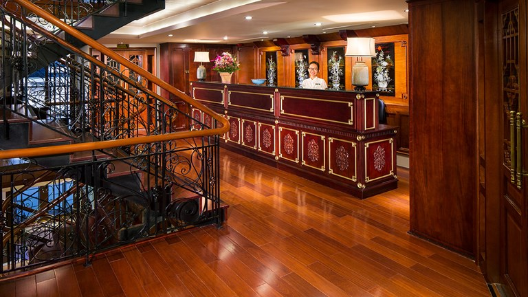 Clients will find French Colonial decor onboard AmaDara.