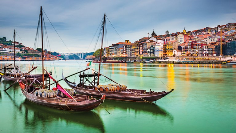 Porto, Portugal, is a popular stop on Douro River sailings.