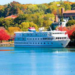 American Cruise Line' s new fleet will stray from the brand's usual Victorian style and offer a modern design aesthetic. // © 2015 American Cruise...