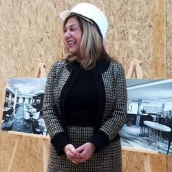 Crystal Cruises' Edie Rodriguez at a Lloyd Werft shipyard in Wismar, Germany, shortly after announcing the addition of two new river vessels to...