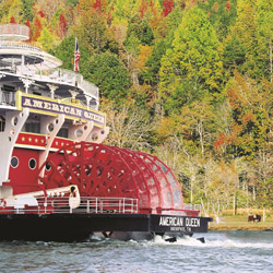 <p>American Queen Steamboat Company is one of several river cruise lines offering itineraries that showcase the natural beauty of fall. // © 2014...