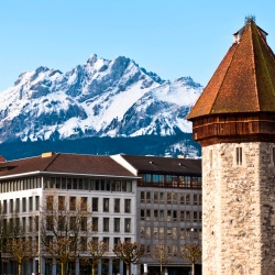 Tauck's new family itinerary includes a train ride to the summit of Mt. Pilatus in the Swiss Alps. // © Thinkstock