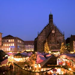 The Classic Christmas cruise visits the Christmas Market in Nuremberg, Germany. // © 2013 Uniworld Boutique River Cruises