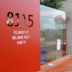 A Great Safaris' tour visits the Nelson Mandela House Museum. // © 2013 Jonny Scott Blair