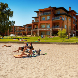<p>Guests at Watermark Beach Resort can take advantage of nearby Osoyoos Lake. // © 2016 Waterfront Beach Resort</p><p>Feature image (above): Okanagan...