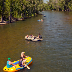 <p>Residents and tourists alike love floating on the Boise River // © 2016 Boise Convention & Visitors Bureau</p><p>Feature image (above): The...