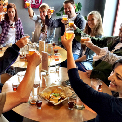 <p>Clients can enjoy several beer tastings and appetizers during the Anchorage Brews tour. // © 2017 Bryan Caenepeel</p><p>Feature image (above):...